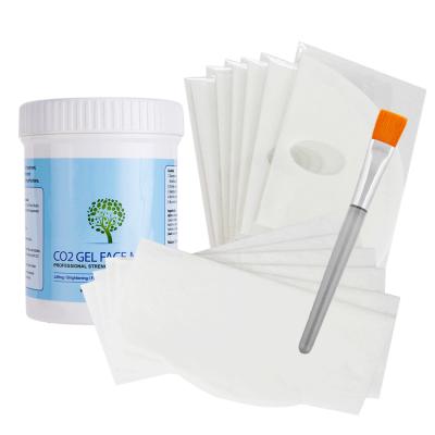 Carboxy therapy CO2 Gel Mask 20 масок для лица и подбородка, 500г и кисть