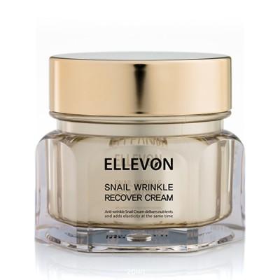 Купить крем для лица с муцином улитки ELLEVON